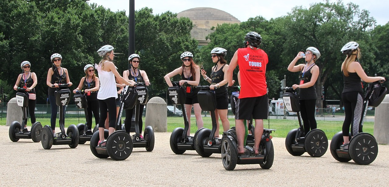 People on Segways