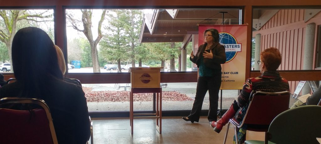 Michelle Hardeman-Guptill at Toastmasters District 57 Area G25 and G31 Speech Contest